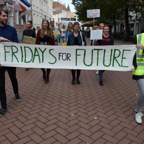 fridays for future Eesti kliimaprotest